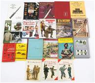 MILITARY WEAPON AND COLLECTIBLES BOOK LOT OF 19