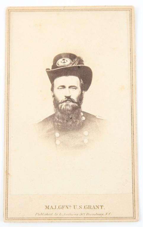 CIVIL WAR MAJOR GENERAL U.S. GRANT PHOTO CDV