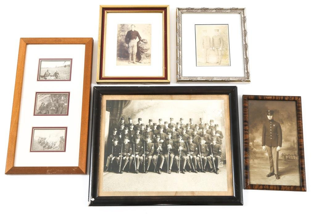SPAN-AM WAR US ARMY SOLDIER'S PICTURE FRAME LOT