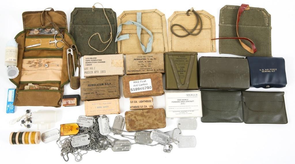 WWI - VIETNAM US ARMY PERSONAL & FIELD GEAR LOT