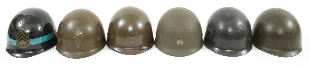WWII - VIETNAM WAR US M1 HELMET LINER LOT OF 6
