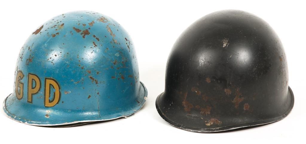 WWII - KOREA US ARMY M1 COMBAT HELMET LOT OF 2