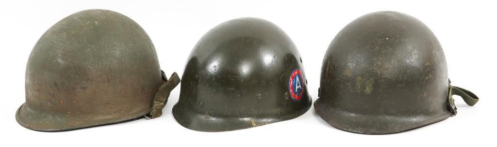 KOREA - VIETNAM WAR US ARMY M1 COMBAT HELMET LOT