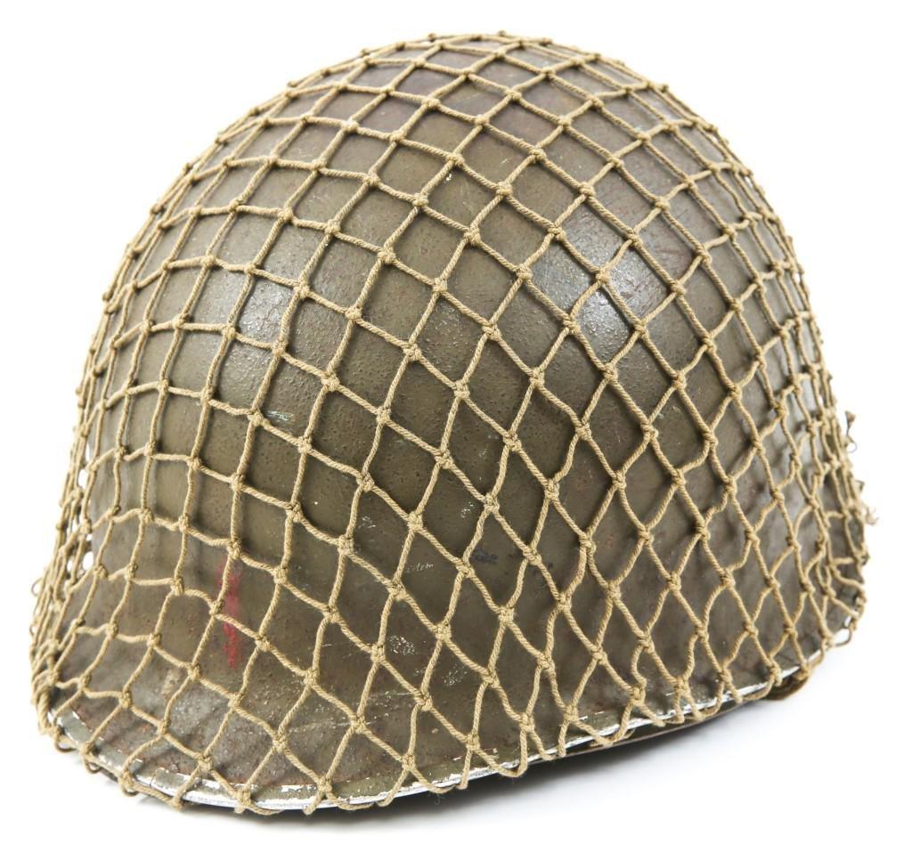 WWII US ARMY 1st INFANTRY DIV M1 COMBAT HELMET