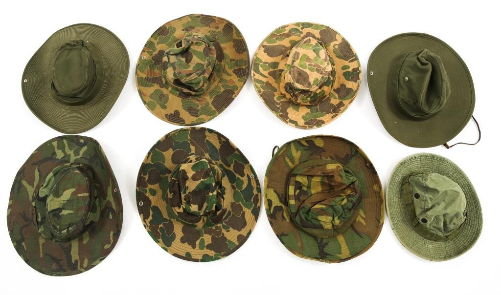 VIETNAM WAR US ARMY ADVISOR JUNGLE HAT LOT OF 8