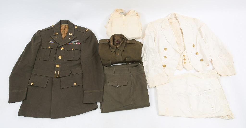 WWII US ARMY OFFICER DRESS UNIFORM LOT OF 2