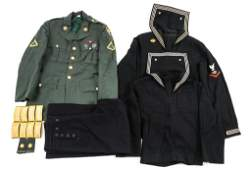 WWII  VIETNAM WAR US NAVY  US ARMY UNIFORM LOT
