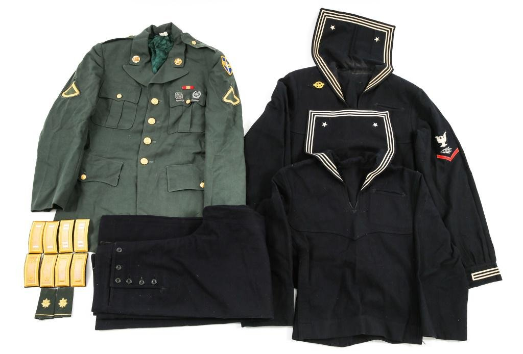 WWII - VIETNAM WAR US NAVY & US ARMY UNIFORM LOT