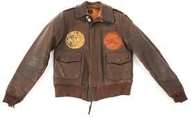 WWII 14th AAF 425th BOMB SQUADRON A2 FLIGHT JACKET