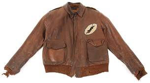 WWII 5th AF 35th FIGHTER SQUADRON A2 FLIGHT JACKET
