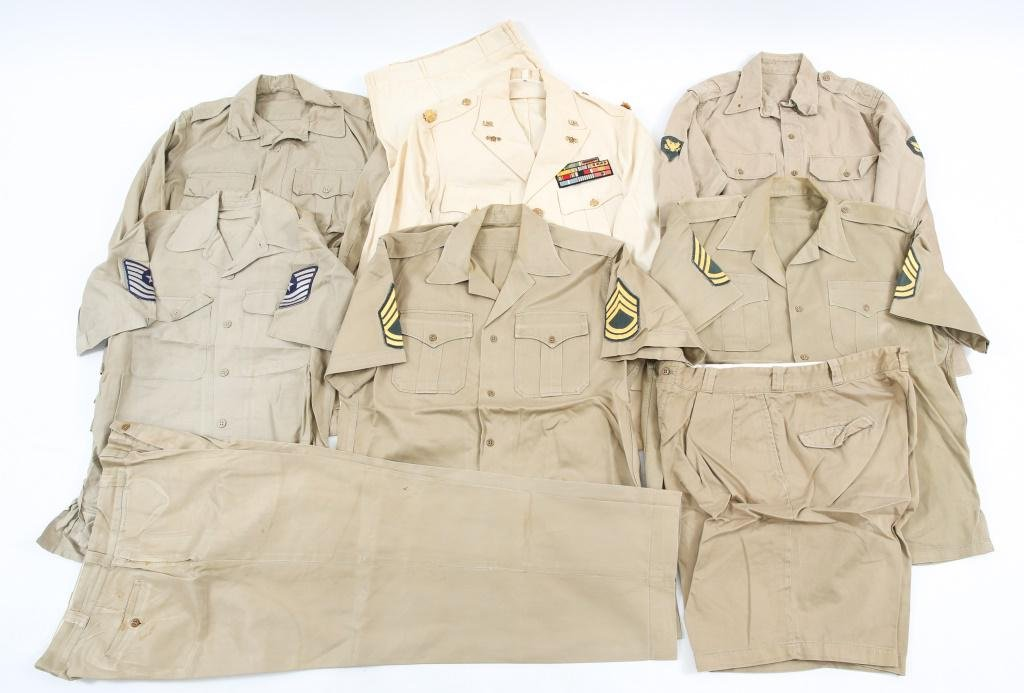 WWII - VIETNAM US ARMY SUMMER UNIFORM LOT
