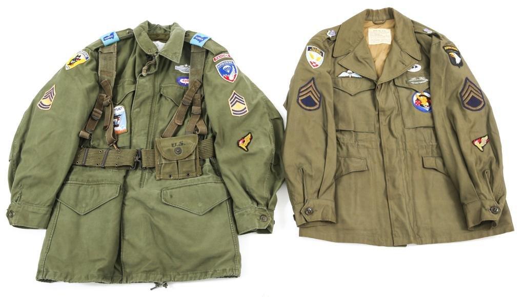 WWII - KOREAN WAR US AIRBORNE FIELD JACKET LOT