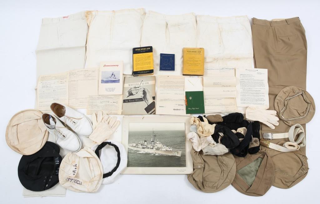 WWII - KOREA US NAVY OFFICER UNIFORM GROUP