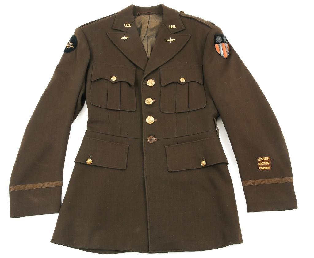WWII US 14th AIR FORCE CBI NAMED PILOT UNIFORM