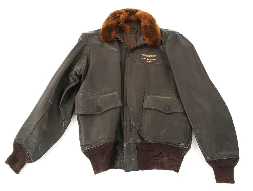 WWII US NAVAL AVIATOR NAMED AN6552 FLIGHT JACKET