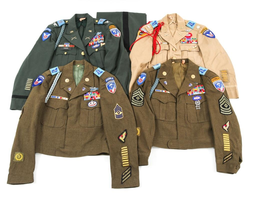 KOREA - VIETNAM WAR US ARMY AIRBORNE UNIFORM LOT