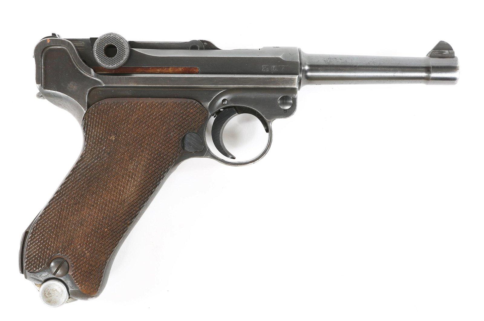 WWII GERMAN MAUSER MODEL P08 9mm PISTOL