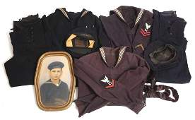 WWII US NAVY BLUE JUMPER UNIFORMS  PICTURE LOT