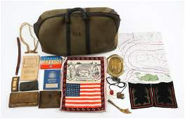 SPANAM TO WWII US ARMY NAVY ASSORTED ITEMS LOT