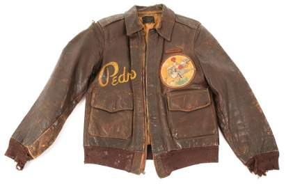 WWII 649th BOMB SQUADRON PAINTED A2 FLIGHT JACKET