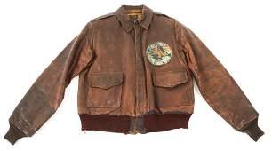 WWII 9th AAF 474th FIGHTER SQ A2 FLIGHT JACKET