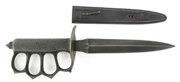 WWI US MARK I TRENCH KNIFE By H.D. & S 1918
