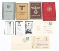WWII GERMAN ID  RECORDS AUSWEIS BOOKLETS LOT