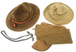 WWI US ARMY M1907  CAMPAIGN HATS LOT OF 3