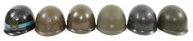 WWII  VIETNAM WAR US M1 HELMET LINER LOT OF 6