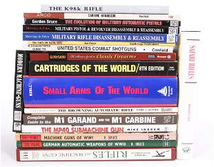 MILITARY FIREARM RELATED REFERENCE BOOKS LOT OF 18