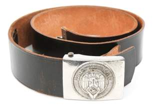 WWII GERMAN HITLER YOUTH BELT & RZM MARKED BUCKLE