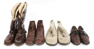 WWII TO COLD WAR WORLD MILITARY BOOTS & SHOES LOT
