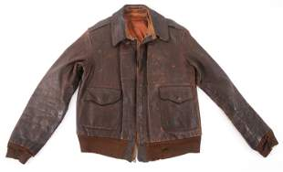 WWII USAAF A-2 PILOT'S LEATHER FLIGHT JACKET