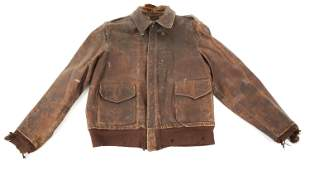 WWII US ARMY AIR FORCE A2 LEATHER FLIGHT JACKET