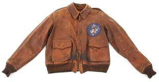WWII 14th AAF A2 FLIGHT JACKET WITH LEATHER PATCH