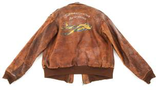 "WWII AAF B17 ""SUPERSTITIOUS - ALOSIUS"" A2 JACKET"