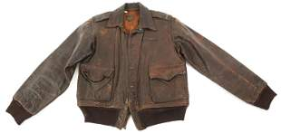 WWII 386th FIGHTER SQ PAINTED A2 FLIGHT JACKET