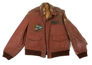 WWII AAF AVG NAMED HORSEHIDE A2 FLIGHT JACKET
