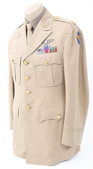 WWII US AAF PILOT OFFICER KHAKI UNIFORM