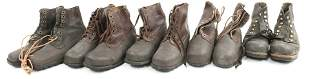 COLD WAR ERA SWEDISH MILITARY BOOTS LOT OF 5 PAIRS