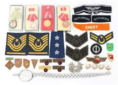 20TH CENTURY WORLD MILITARY MEDALS PINS & PATCHES