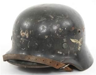 WWII GERMAN M35 LUFTWAFFE DOUBLE DECAL HELMET