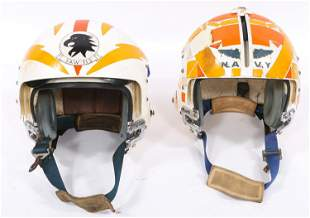 US MILITARY VAW-113 APH-6 FLIGHT HELMETS LOT OF 2