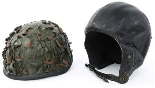 VIETNAM WAR FRENCH & US HALO PARA HELMETS LOT OF 2
