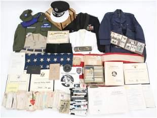 WWII TROOP CARRIER PILOT COL. HARKIEWICZ GROUPING