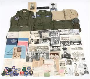 USAF COMMANDANT NAMED UNIFORM & DOCS GROUPING