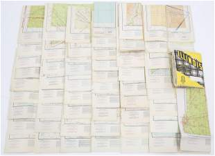WWII US MILITARY AERONAUTICAL CHARTS & MAPS LOT