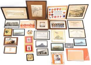 WWI TO MODERN CONFLICTS FRAMED MILITARY PHOTOS LOT