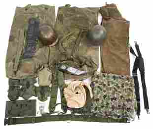 COLD WAR ERA US ARMY FIELD GEAR LOT