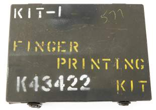 POST WWII KOREAN WAR US ARMY FINGER PRINTING KIT